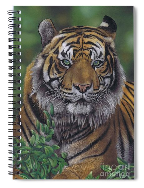 Eye Of The Tiger Spiral Notebook