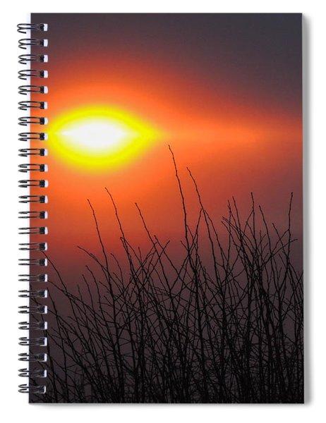 Eye Of Winter Spiral Notebook