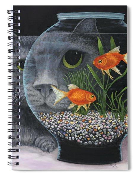 Eye To Eye Spiral Notebook by Karen Zuk Rosenblatt