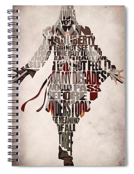 Ezio Auditore Da Firenze From Assassin's Creed 2  Spiral Notebook