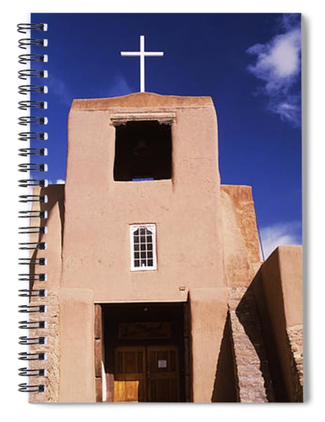 Facade Of A Church, San Miguel Mission Spiral Notebook