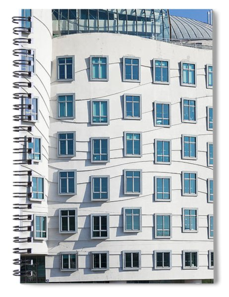 Facade Of Dancing House Or Ginger Spiral Notebook