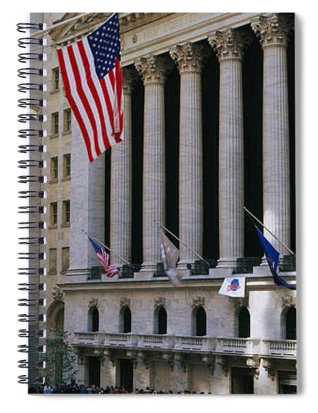 Facade Of New York Stock Exchange Spiral Notebook