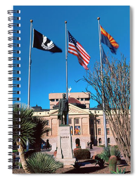 Facade Of The Arizona State Capitol Spiral Notebook