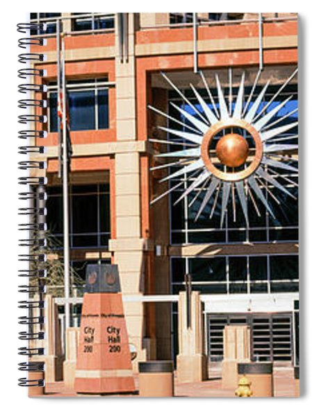 Facade Of The Phoenix City Hall Spiral Notebook