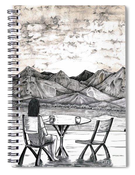 Faces In Landscape Spiral Notebook