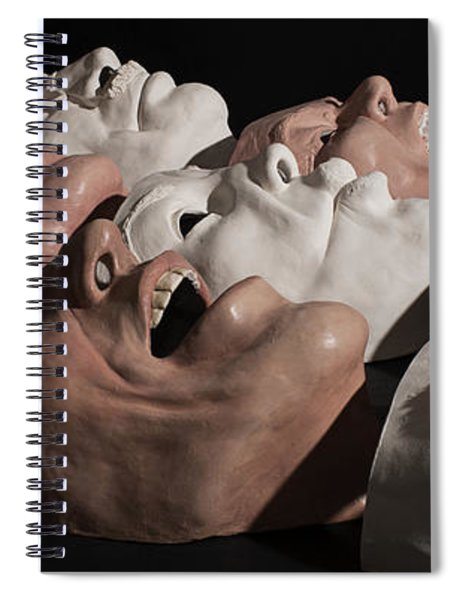 Faces In The Crowd Spiral Notebook