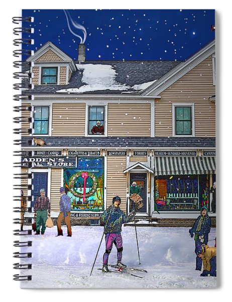 Faddens General Store In North Woodstock Nh Spiral Notebook