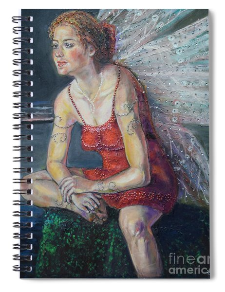 Fairy On A Stone Spiral Notebook