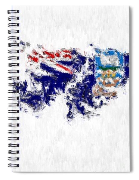 Falkland Islands Painted Flag Map Spiral Notebook