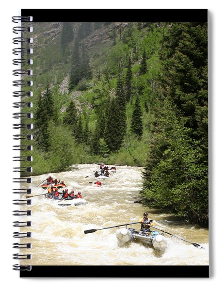 White Water Rafting On The Animas Spiral Notebook