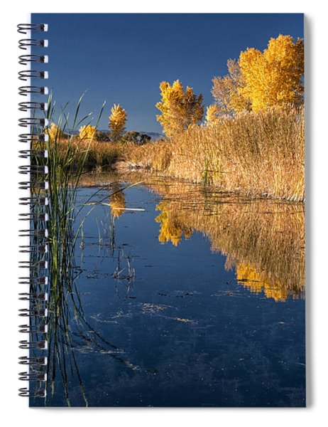 Fall At The Canal Spiral Notebook