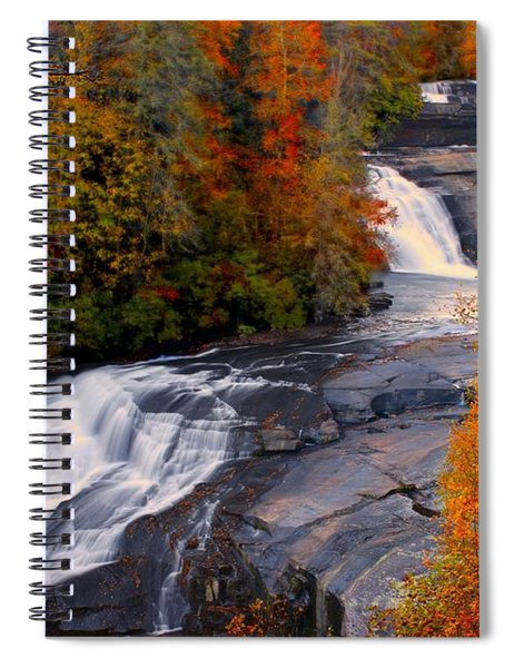 Fall At Triple Falls Spiral Notebook