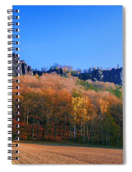 Fall Colors Around The Lilienstein Spiral Notebook