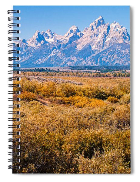 Fall Colors In The Tetons   Spiral Notebook