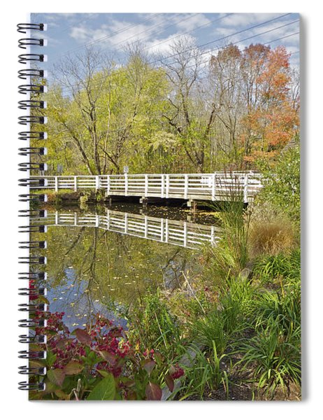 Fall Colors On The Canal Spiral Notebook