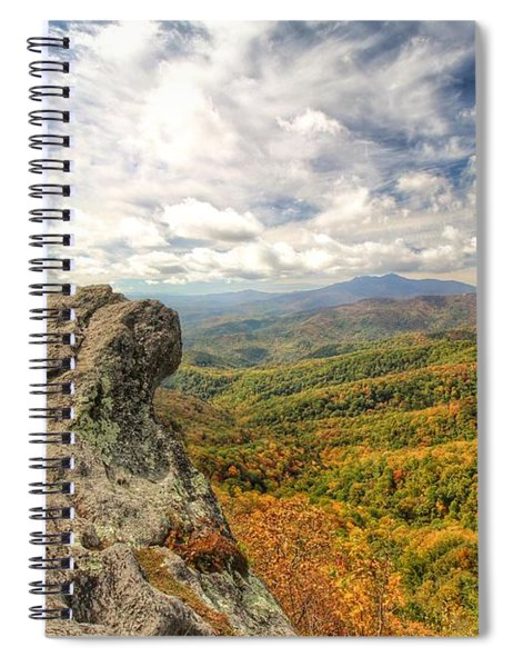 Fall From The Blowing Rock Spiral Notebook