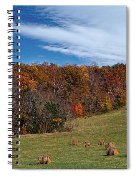 Fall On The Farm Spiral Notebook