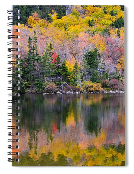 Fall Reflections In Echo Lake Spiral Notebook