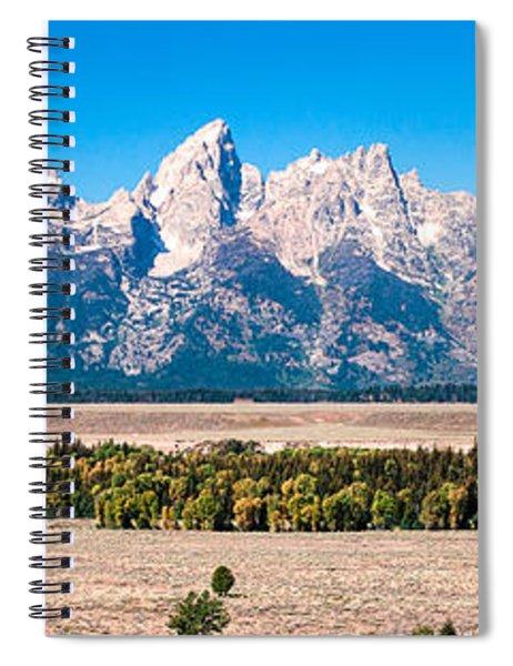 Fall Tetons Panorama   Spiral Notebook