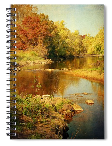 Fall Time At Rum River Spiral Notebook