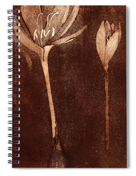Fall Time - Autumn Crocus Meadow Safran Spiral Notebook