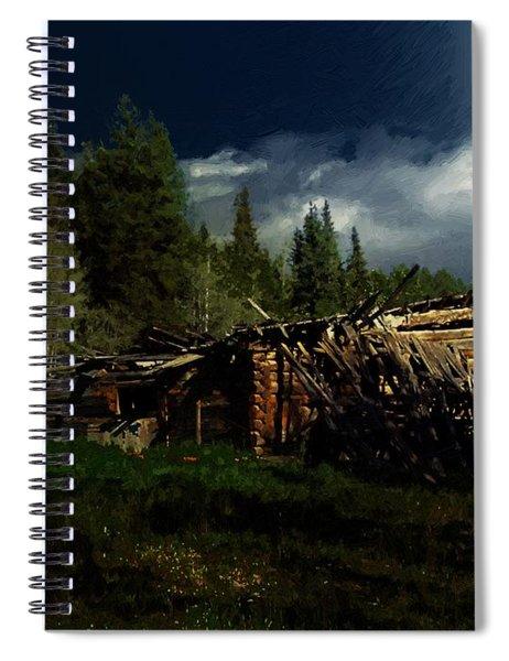 Fallen In Spiral Notebook