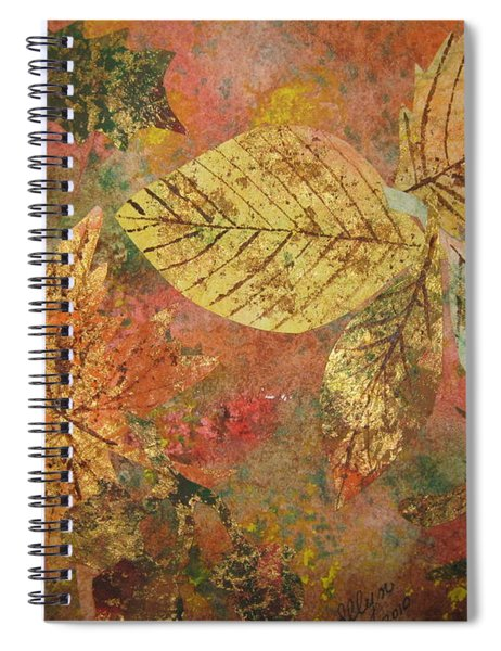 Fallen Leaves II Spiral Notebook