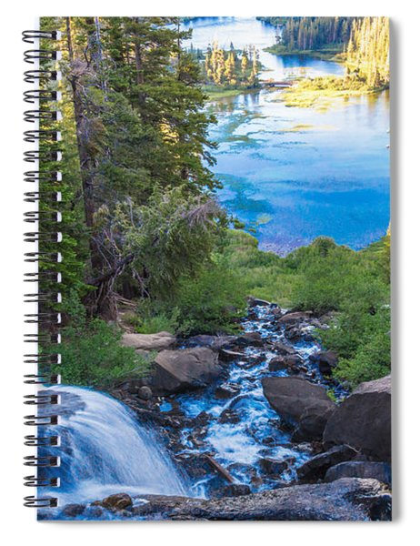 Falling Down To The Lakes Spiral Notebook