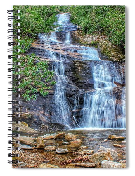 Falling From Mount Mitchell Spiral Notebook