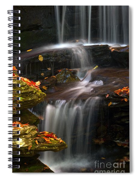 Falls And Fall Leaves Spiral Notebook