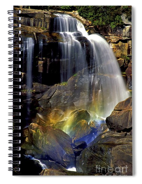 Falls And Rainbow Spiral Notebook