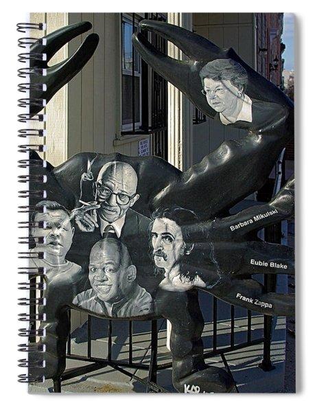 Famous Baltimoreans Art Crab  Spiral Notebook