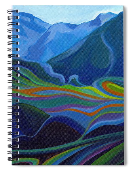 Faraway Mountains Spiral Notebook
