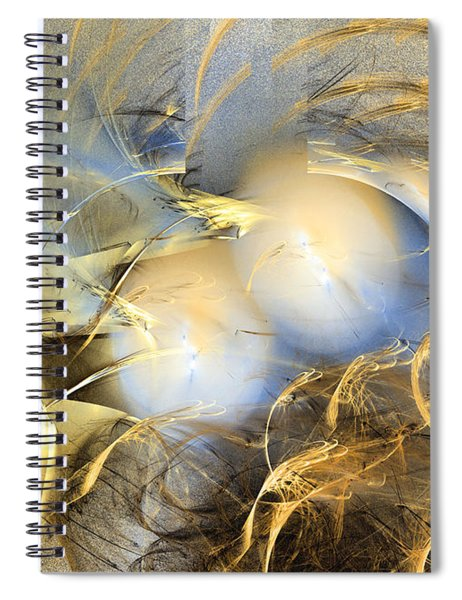 Far From The Treacherous World - Abstract Art Spiral Notebook