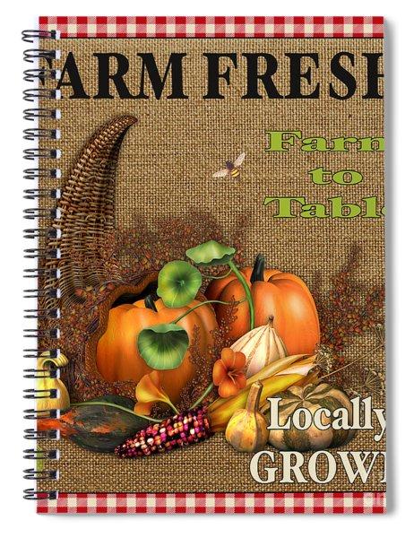 Farm Fresh-jp2384 Spiral Notebook