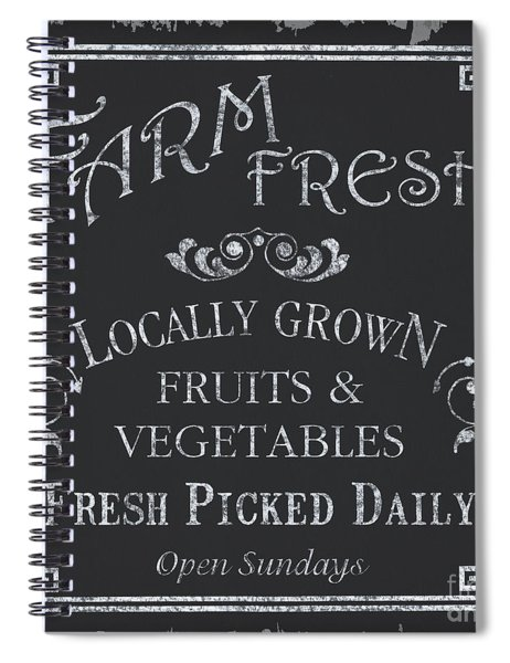 Farm Fresh Sign Spiral Notebook