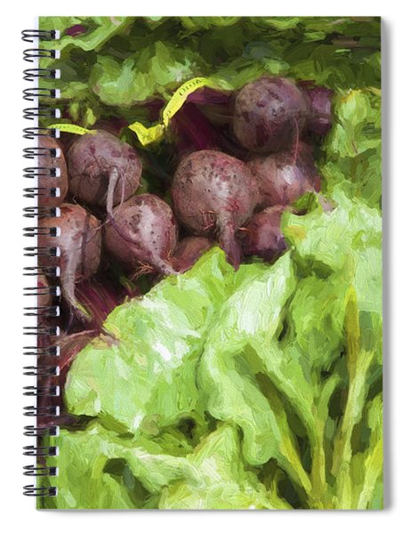 Farmers Market Beets And Greens Spiral Notebook