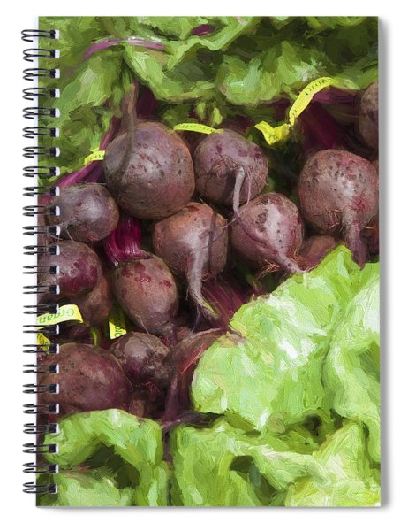 Farmers Market Beets And Greens Square Spiral Notebook