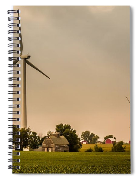 Farms And Windmills Spiral Notebook