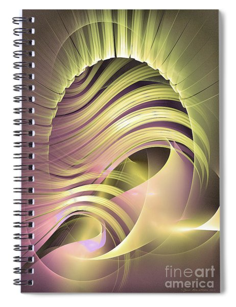 Fascinatio Lucis - Abstract Art Spiral Notebook