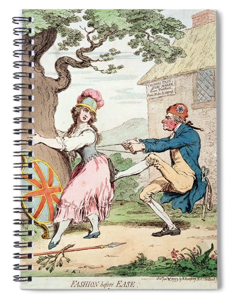 Fashion Before Ease, Or A Good Constitution Sacrificed For A Fantastic Form, Pub. By Hannah Spiral Notebook