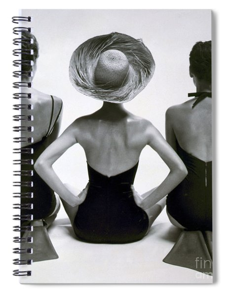Fashion Models In Swim Suits, 1950 Spiral Notebook