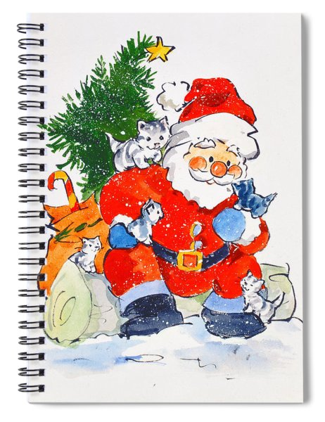 Father Christmas And Kittens, 1996  Spiral Notebook