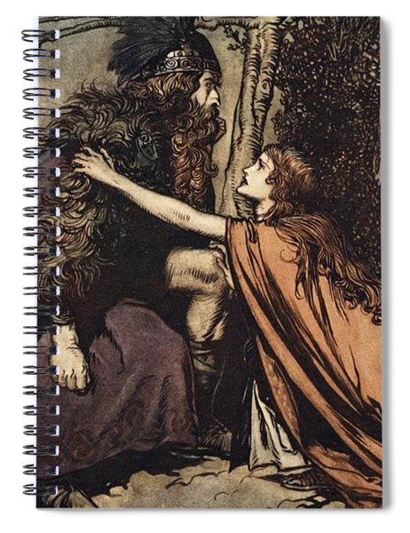 Father Father Tell Me What Ails Thee With Dismay Thou Art Filling Thy Child Spiral Notebook