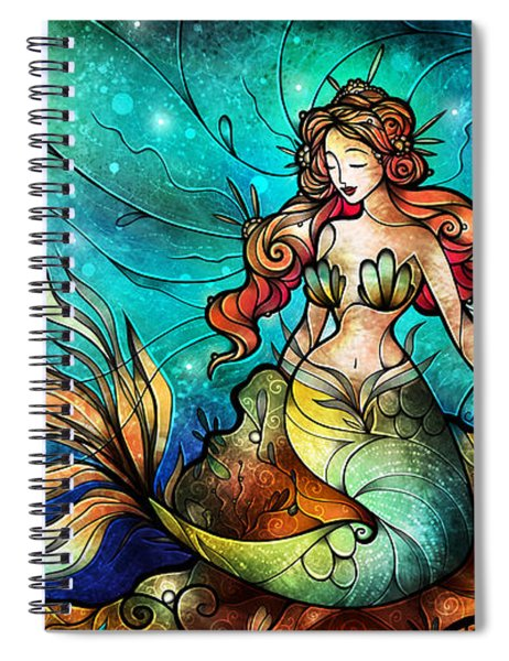 The Serene Siren Triptych Spiral Notebook