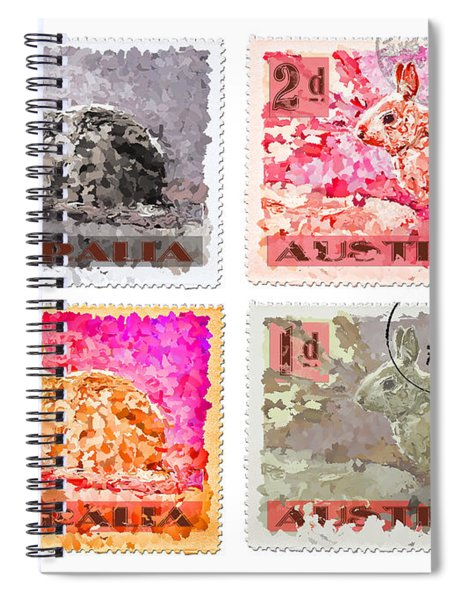 Faux Poste Bunnies Spiral Notebook