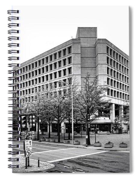 Fbi Building Front View Spiral Notebook