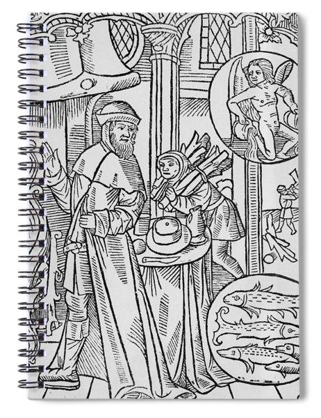 February Aquarius Spiral Notebook