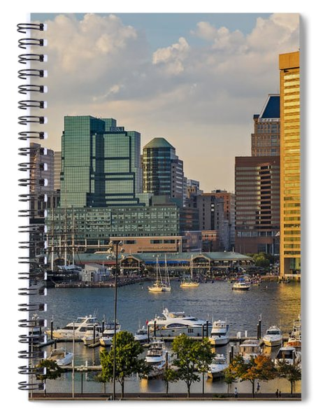Federal Hill View To The Baltimore Skyline Spiral Notebook